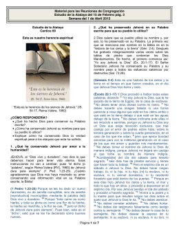 MRC Estudio Atalaya Semana 1 Abril