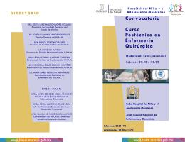 Convocatoria Curso Postécnico en Enfermería Quirúrgica