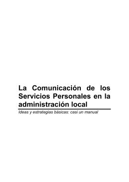 La comunicación de los Servicios Personales en la administración
