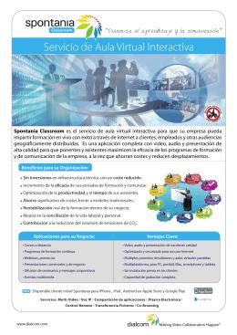Servicio de Aula Virtual Interactiva