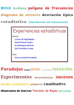 Experiencias estadísticas - Departamento de Estadística e