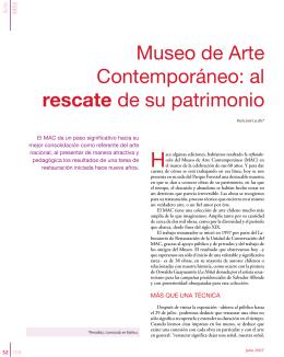 Museo de Arte Contemporáneo: al rescate de su