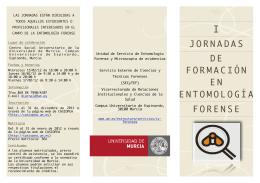 FOLLETO JORNADAS FORMACIÓN