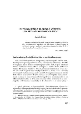 7. El franquismo y el mundo antiguo. Una revisión historiográfica