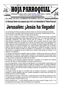 Hoja Parroquial NM 163 - Parroquia de Santa Justa y Santa Rufina