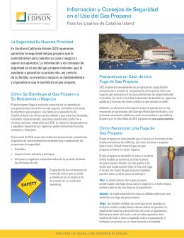 Informacíon y Consejos de Seguridad en el Uso del Gas Propano