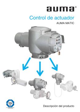 Descripción del producto - Control de actuador AUMA MATIC