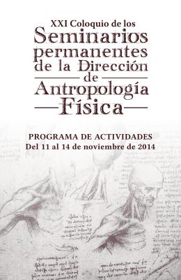 PROGRAMA DE ACTIVIDADES Del 11 al 14 de noviembre de 2014