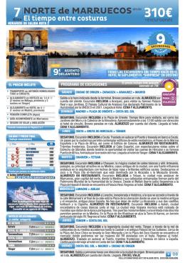 310€ - estancias tours