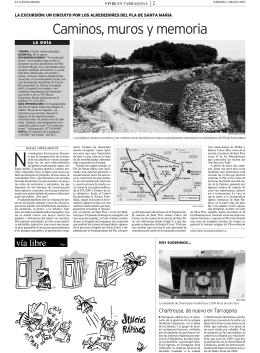 """Caminos, muros y memoria - Coordinadora d`Entitats per la """"Pedra"""
