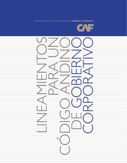 Lineamientos para un Código Andino de Gobierno - Inicio