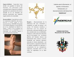 Descargar CODIGO DE ETICA DE INDERCASTipo de archivo