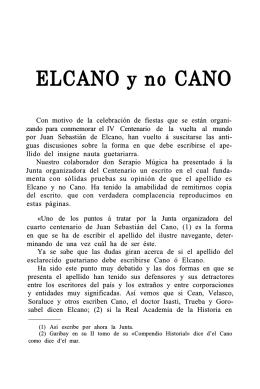 Elcano y no Cano