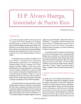 El P. Álvaro Huerga, historiador de Puerto Rico