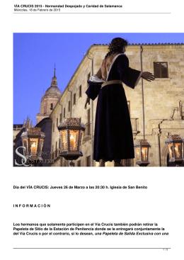 VÍA CRUCIS 2015 - Hermandad Despojado y Caridad de Salamanca