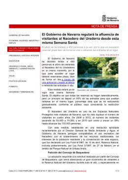El Gobierno de Navarra regulará la afluencia de visitantes al