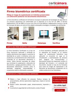 Firma biométrica certificada