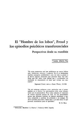 """El uHombre de los lobos"""", Freud y los episodios psicóticos"""