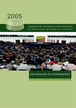 Declaración de Estrasburgo de los agricultores europeos 2005