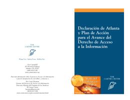 Declaración de Atlanta y Plan de Acción para el Avance del