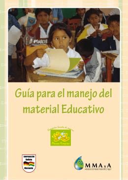 Guía para el manejo del material Educativo