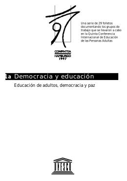 Educación de adultos, democracia y paz