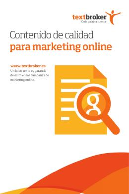 Contenido de calidad para marketing online