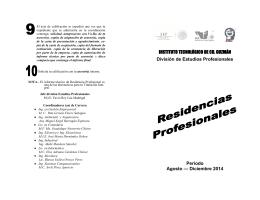 Periodo Agosto — Diciembre 2014 INSTITUTO TECNOLÓGICO DE