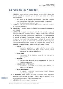 EVALUACIÓN SUMATIVA 5º EP - 5 de Primaria SEK El Castillo