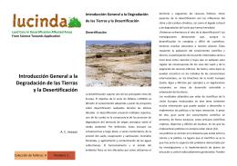 Introducción General a la Degradación de las Tierras y la
