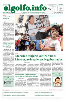 Marchan mujeres contra Yunes Linares, no lo quieren de gobernador