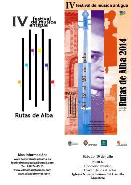 El Trovar, SÁBADO 19 DE JULIO - Ayuntamiento de Alba de Tormes