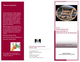 Institucional - Colegio Provincial N° 754 EPJA
