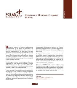 Historias de al-Khwārizmī (2ª entrega). Los Libros