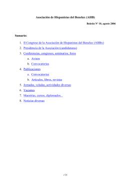 AHBx Boletín No. 10 – agosto 2006