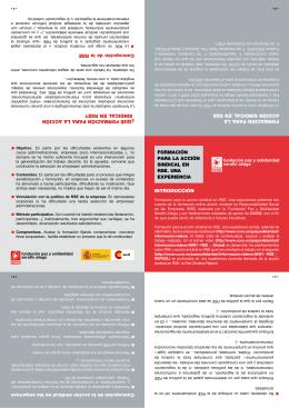 Formación para la Acción Sindical en RSE. Una experiencia