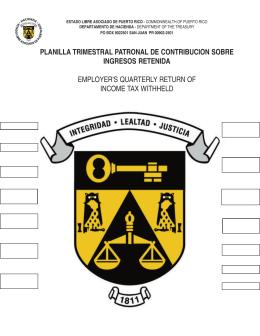 499 R-1B - Planilla Trimestral Patronal de Contribución sobre