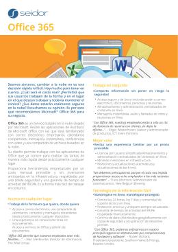 Office 365 - Infraestructuras