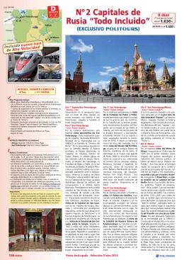 Nº 2 Capitales de Rusia