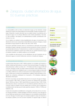 Zaragoza, ciudad ahorradora de agua. 50 buenas prácticas