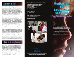 Mediación de Educación Especial Mediación de Educación Especial