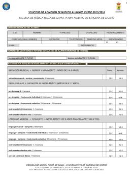Descargue el formulario de admisión de nuevos alumnos