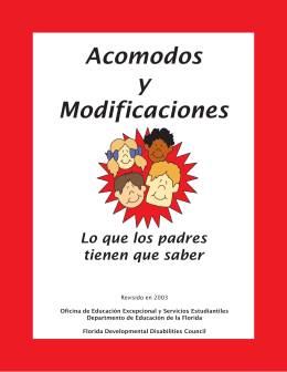 Acomodos y Modificaciones