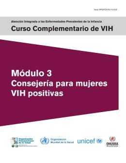 Módulo 3 Consejería para mujeres VIH positivas