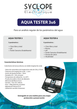 aquatester 3&6 - Syclope Electronique