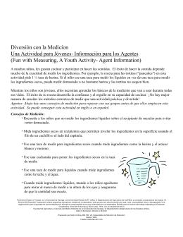 Diversión con la Medicíon Una Actividad para Jóvenes