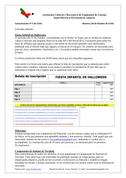 Comunicación nº 7-2015 - ASOCIACIÓN DE EMPLEADOS DE