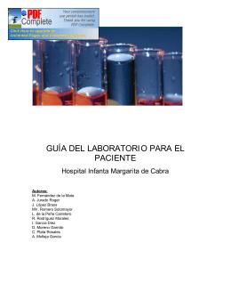 guía del laboratorio para el paciente