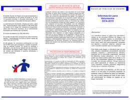 Información para Voluntarios 2014-2015
