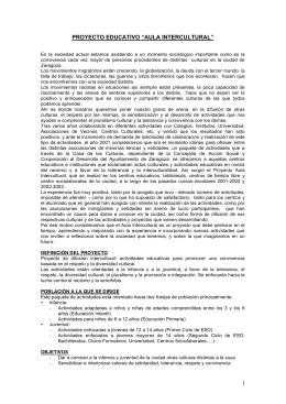 Proyecto Aula Intercultural